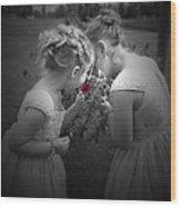 Flower Girls Wood Print