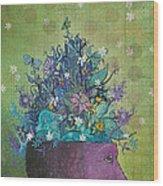 Flower-head1 Wood Print by Dennis Wunsch