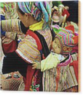 Flower Hmong Baby 03 Wood Print