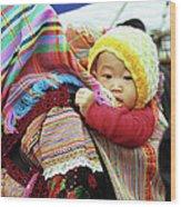 Flower Hmong Baby 04 Wood Print