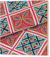 Flower Hmong Embroidery 02 Wood Print