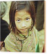 Flower Hmong Girl 02 Wood Print