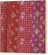 Flower Hmong Velvet Wood Print