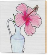 Flower In Jug Wood Print