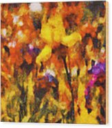 Flower - Iris - Orchestra Wood Print by Mike Savad