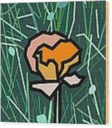 Flower Wood Print by Kenneth North