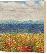 Flower - Landscape - Fragrant Valley Wood Print by Mike Savad