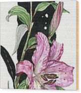 Flower Lily 02 Elena Yakubovich Wood Print
