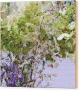 Flower Market Ile De La Cite Wood Print