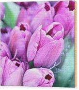 Flower Mart Wood Print