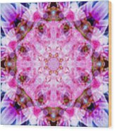 Flower Of Life Lily Mandala Wood Print