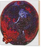 Flower Of Life Nouveau  Wood Print