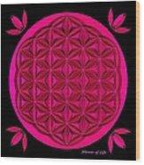 Flower Of Life - Pink Wood Print