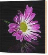 Flower On Glass Wood Print