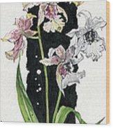 Flower Orchid 06 Elena Yakubovich Wood Print by Elena Yakubovich