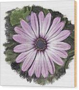 Flower Paint Wood Print