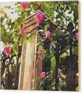 Flower Post Wood Print