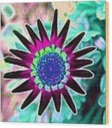 Flower Power 1448 Wood Print