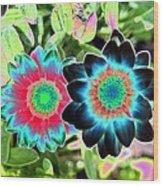 Flower Power 1449 Wood Print