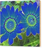 Flower Power 1451 Wood Print