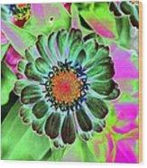 Flower Power 1454 Wood Print