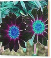 Flower Power 1456 Wood Print