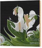 Flower Power Abstract Wood Print