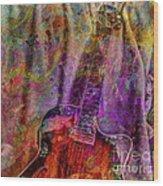 Flower Power Digital Guitar Art By Steven Langston Wood Print