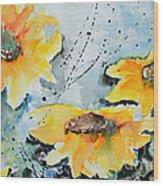 Flower Power- Floral Painting Wood Print
