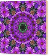 Flower Power Wood Print by Kristie  Bonnewell