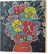 Flower Power Wood Print by Matthew  James