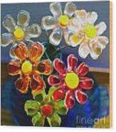 Flower Power Still Life Wood Print