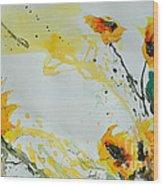 Flower Power- Sunflower Wood Print