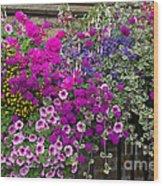 Flower Riot Wood Print