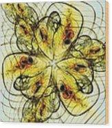 Flower Sketch Wood Print