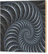 Flower Spiral Wood Print