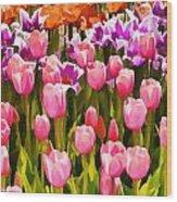 Flower Splash IIi Wood Print