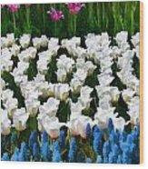Flower Splash X Wood Print
