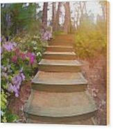 Flower Steps Wood Print