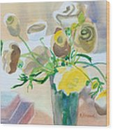 Flower Still Life          Wood Print