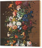 Flower Still Life With A Bird's Nest Wood Print
