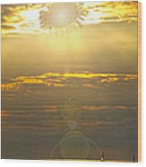 Flower Sun Wood Print