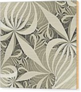 Flower Swirl Wood Print