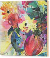 Flower Symphony 03 Wood Print