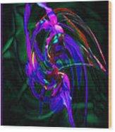 Flower Tango  Wood Print