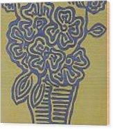 Flower Vase Wood Print