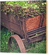 Flower Wagon Wood Print