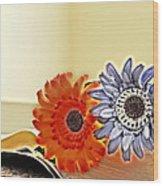 Flowerecent Wood Print
