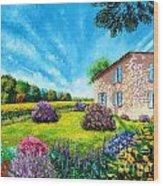 Flowered Garden Wood Print