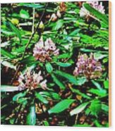 Flowered Tree Wood Print